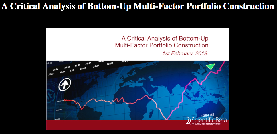 a critical analysis of bottom up multi factor portfolio construction