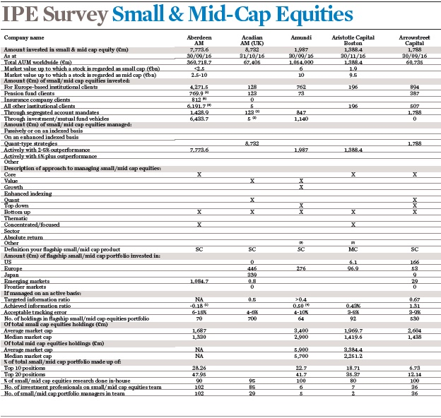 ipe survey small and mid cap equities 2017 survey intro