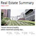 Real Estate Summary Edition 2, 2019 - Tenant demand healthy while investment activity slips.