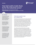 how bad could a trade shock be for the industrial sector