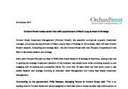 Orchard Street makes senior hire with appointment of Mark Long as Head of Strategy
