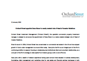 Orchard Street appoints Dana Eisner to newly created role of Head of Investor Relations
