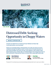 Distressed Debt: Seeking Opportunity in Choppy Waters