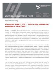 2018 08 02 press release warbug hih invest hanse forum page 1