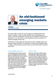 an old fashioned emerging markets crisis