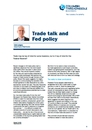 trade talk and fed policy