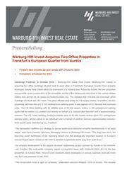 2018 10 09 warburg hih invest acquires db brick und db tower page 1