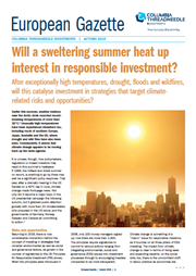 will a sweltering summer heat up interest in responsible investment