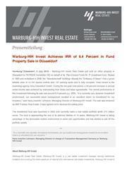 2018 07 03 press release warburg hih invest ideenbotschaft duesseldorf page 1