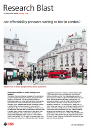 are affordability pressures starting to bite in london