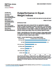 outperformance in equal weight indices