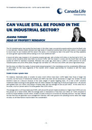 can value still be found in the uk industrial sector