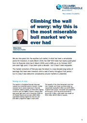 climbing the wall of worry why this is the most miserable bull market we've ever had