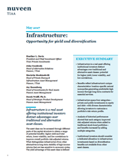 infrastructure opportunity for yield and diversification