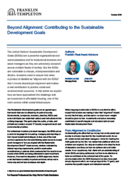 Beyond Alignment: Contributing To The Sustainable Development Goals