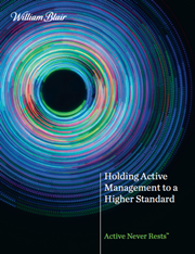 holding active management to a higher standard