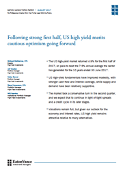 following strong first half us high yield merits cautious optimism going forward