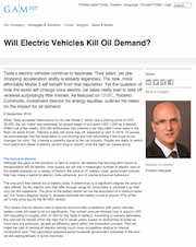 will electric vehicles kill oil demand