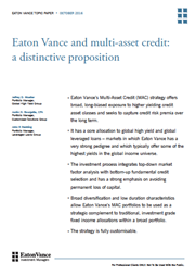 Eaton Vance and multi-asset credit: a distinctive proposition index