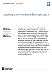 Accessing opportunities in leveraged credit index