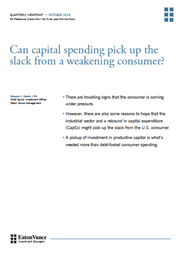 Can capital spending pick up the slack from a weakening consumer index
