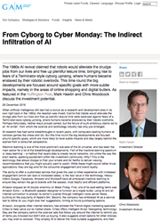 from cyborg to cyber monday the indirect infiltration of ai