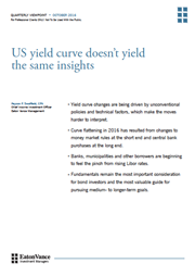 US yield curve doesn't yield the same insights index