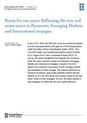 room for one more reflecting the new real estate sector in parametric emerging markets and international strategies index
