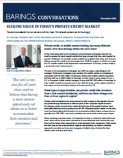 Seeking Value in Today's Private Credit Market
