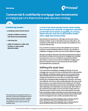 Commercial & multifamily mortgage loan investments: An integral part of a fixed income asset allocation strategy