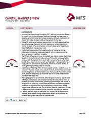 capital markets view first quarter 2018