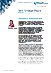 asset allocation update uk earnings forecasts unchanged despite headwinds