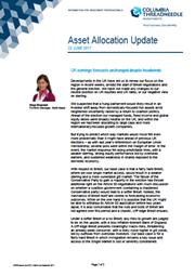asset allocation update uk earnings forecasts unchanged despite headwinds