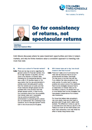 go for consistency of returns not spectacular returns