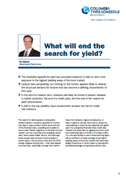 what will end the search for yield