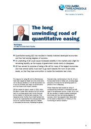 the long unwinding road of quantitative easing