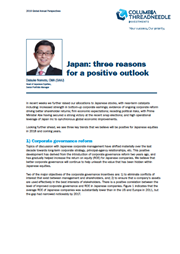 japan three reasons for a positive outlook