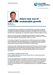 asias new era of sustainable growth