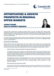 opportunities growth prospects in regional office markets