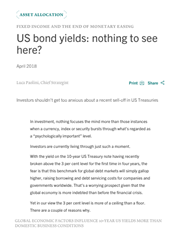 us bond yields