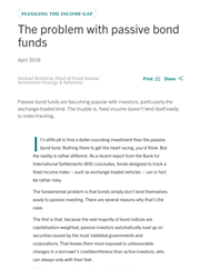 the problem with passive bond funds