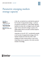 parametric emerging markets strategy capacity