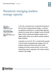 parametric emerging markets strategy capacity
