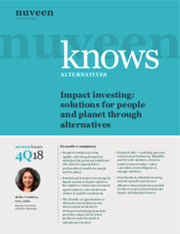 impact investing solutions for people and planet through alternatives