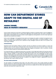 how can department stores adapt to the digital age of retailing