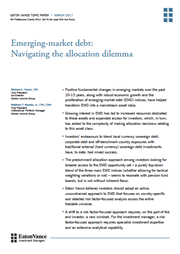 emerging market debt navigating the allocation dilemma