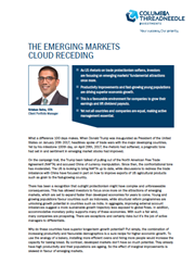 the emerging markets cloud receding