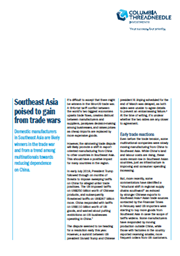 Southeast Asia poised to gain from trade wars