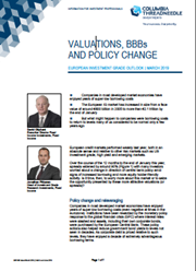 Valuations, BBBs And Policy Change - European Investment Grade Outlook | March 2019