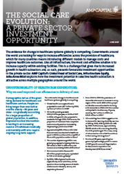 The Social Care Evolution: A Private Sector Investment Opportunity